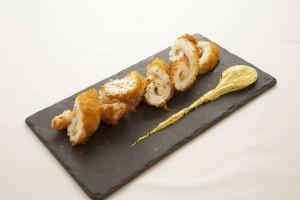 Calamar Rebozado con salsa de Curry