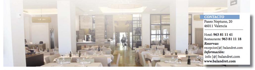 Restaurante Balandret en Valencia