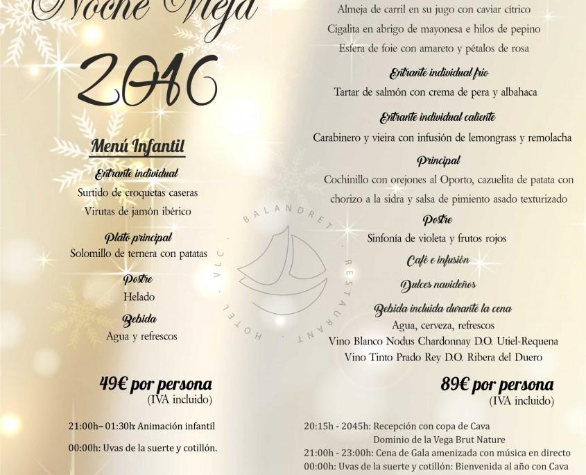 Nochevieja en valencia hotel balandret hotel boutique - Restaurantes valencia nochevieja ...