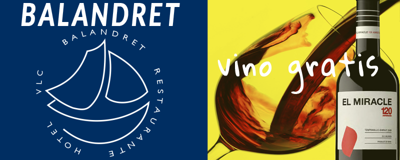Promoción vino gratis restaurante balandret